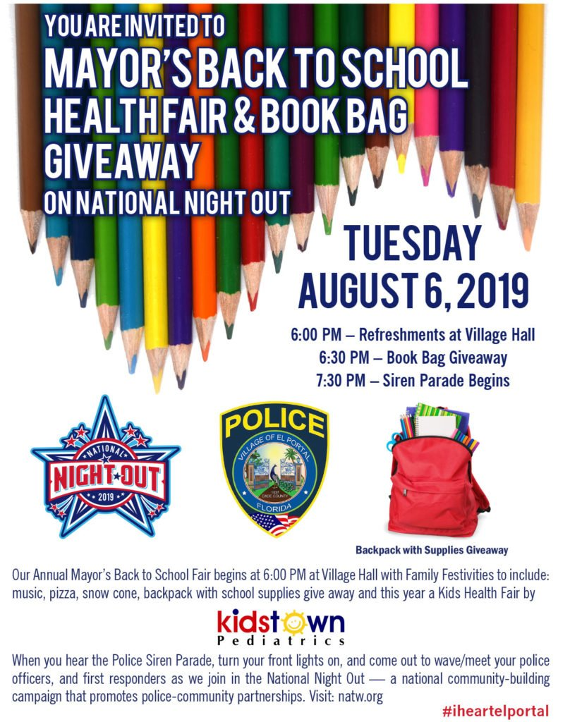 National Night Out - Backpack Giveaway
