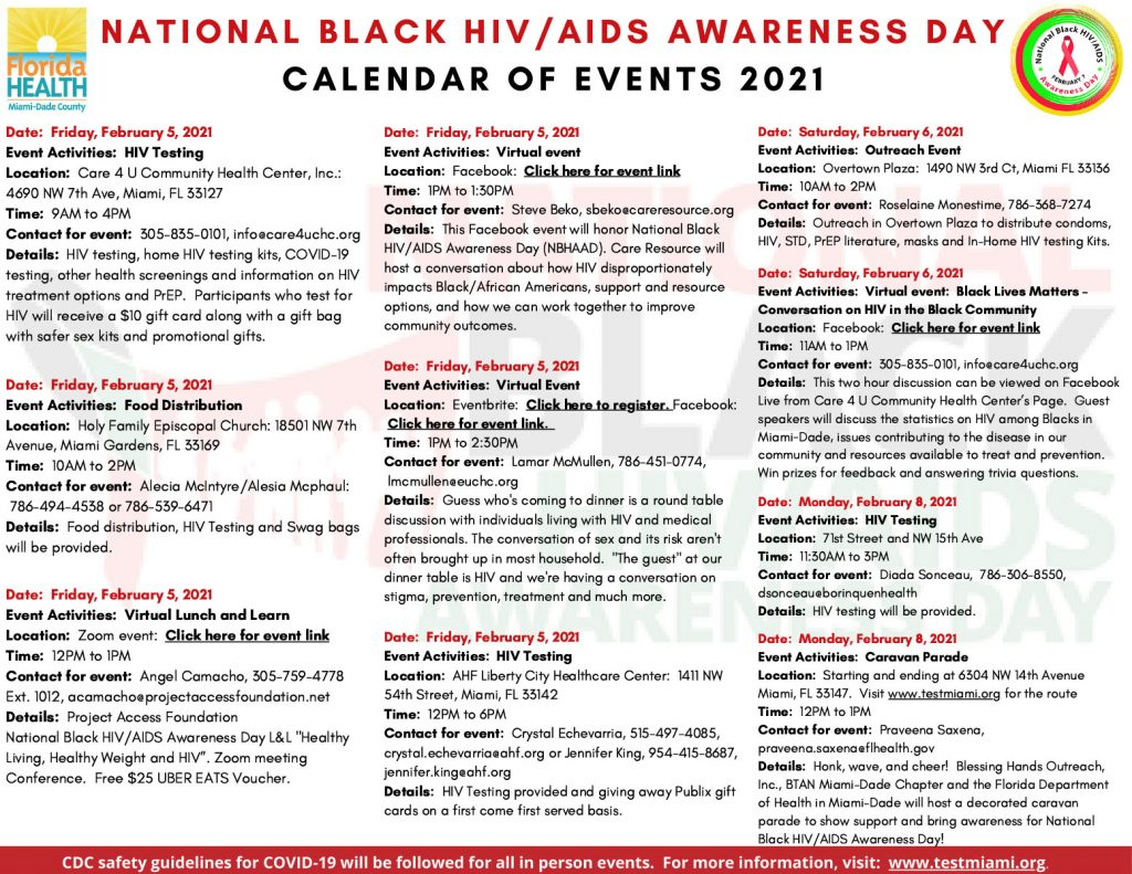 National Black HIV/AIDS Awareness Day - Calendar of Events