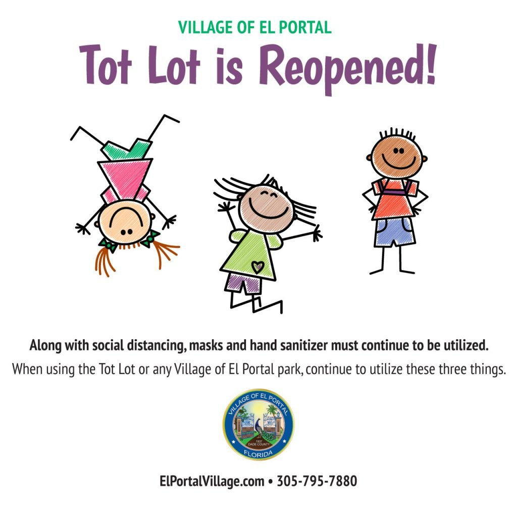 Tot Lot Reopened